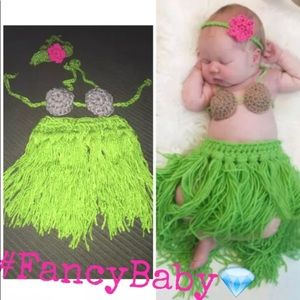 Other - Baby hula costume Knitted Crochet for Photo Prop